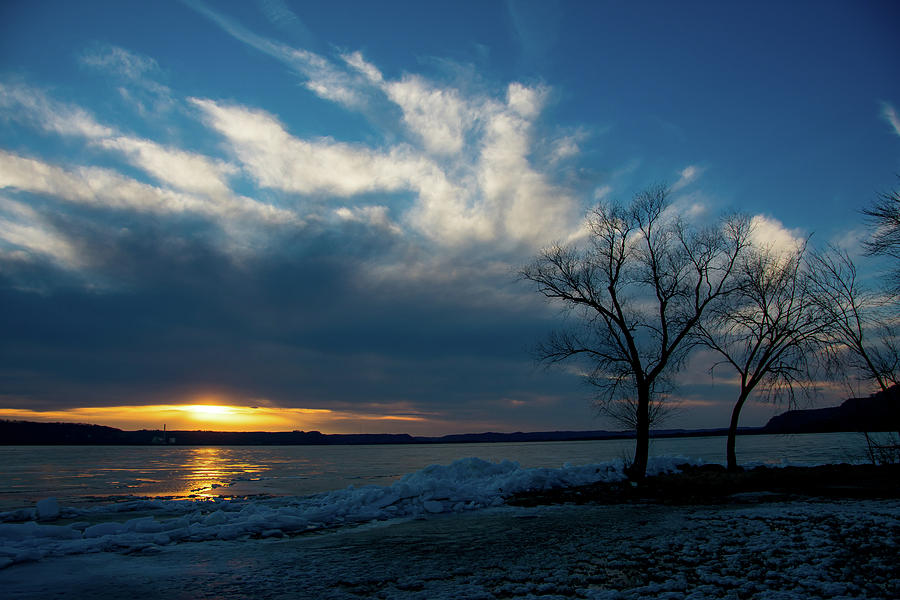 River Photograph - Sunset Along The Mississippi River by Jessica Michaels