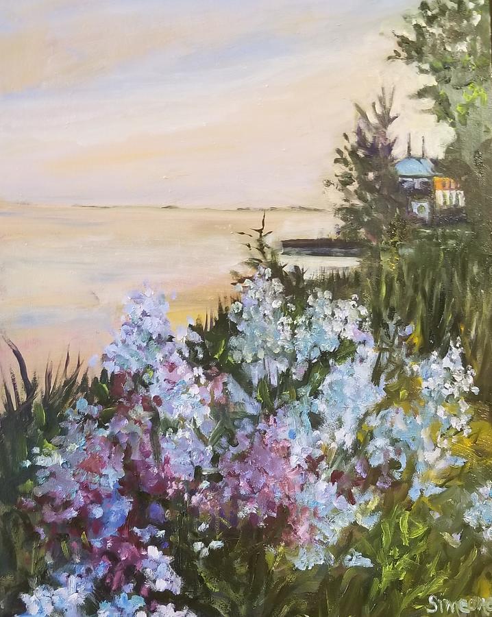 Sunset and Floxx Garden by Cheryl LaBahn Simeone