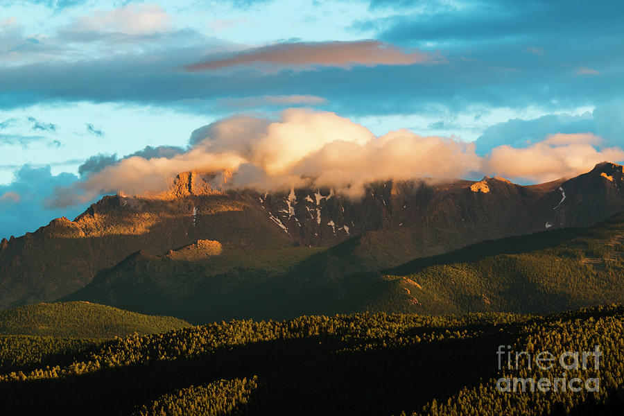 Sunset And Snow On Pikes Peak Photograph