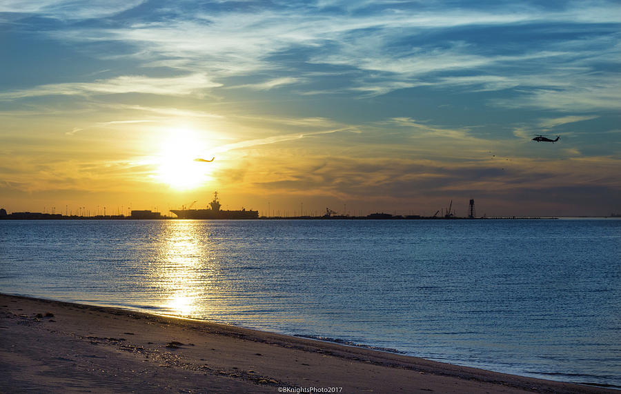 Sunset and Warships by Brian Knight