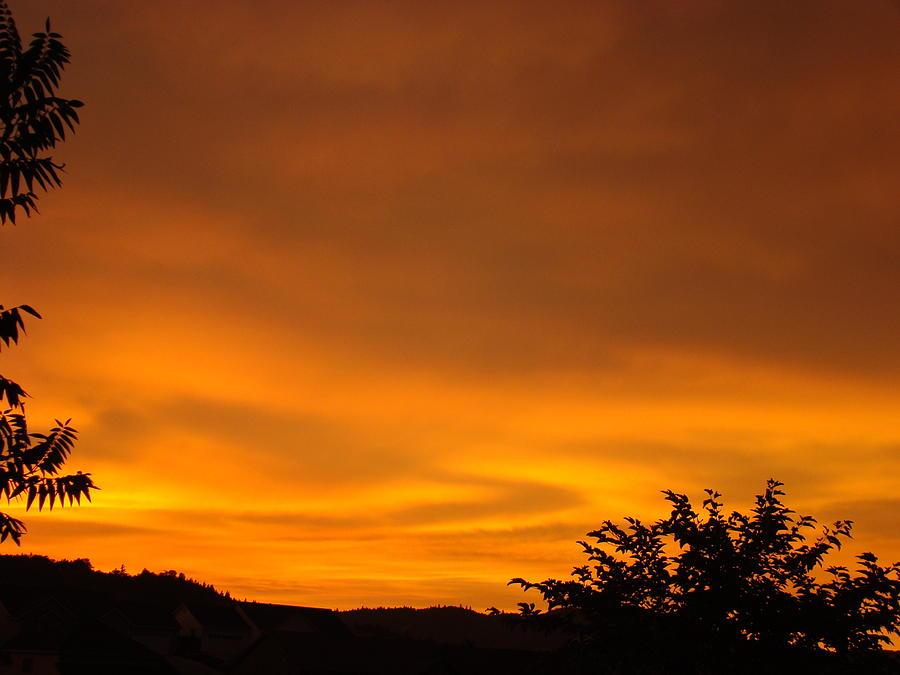 Sunset Photograph - Sunset Art Prints Orange Glowing Western Sunset Baslee Troutman by Baslee Troutman