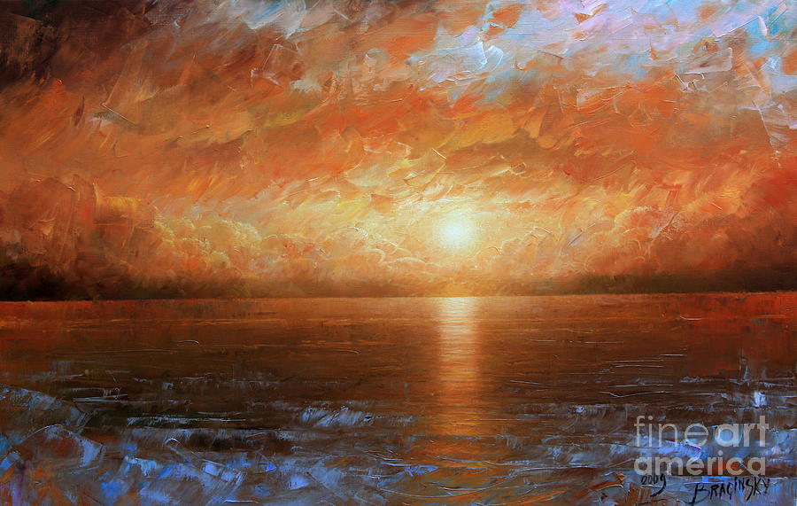 Landscape Painting - Sunset by Arthur Braginsky