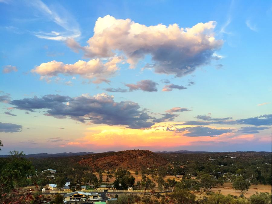 Sunset at Alice Springs #2 by Pat Moore