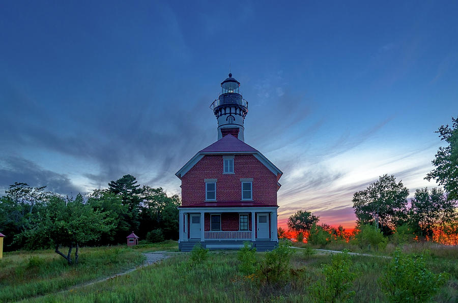 Sunset at Au Sable Point Lighthouse by Gary McCormick