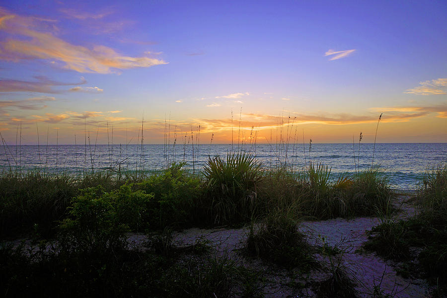Sunset at Barefoot Beach Preserve in Naples, FL by Robb Stan