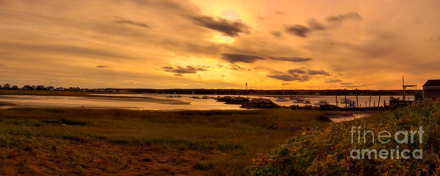 Boat Photograph - Sunset At Biddeford Pool by David Bishop