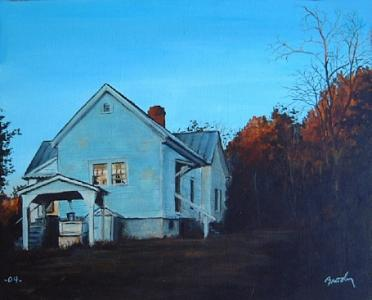 Landscape Painting - Sunset At Bills by William Brody