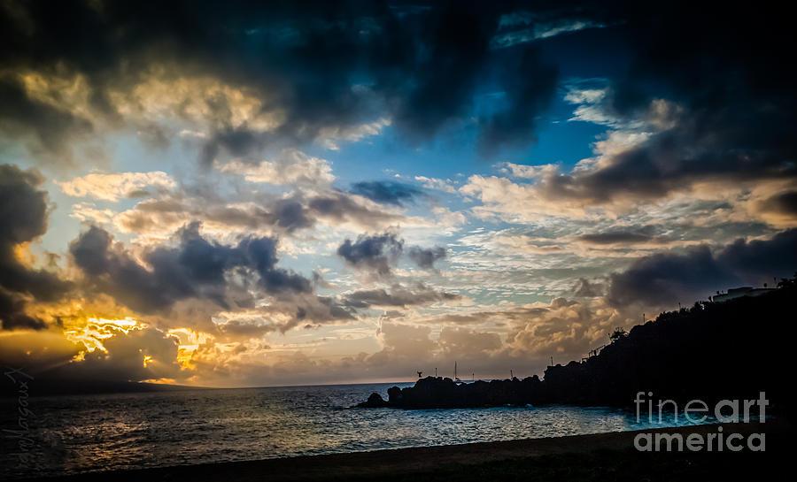 Sunset At Black Rock Photograph