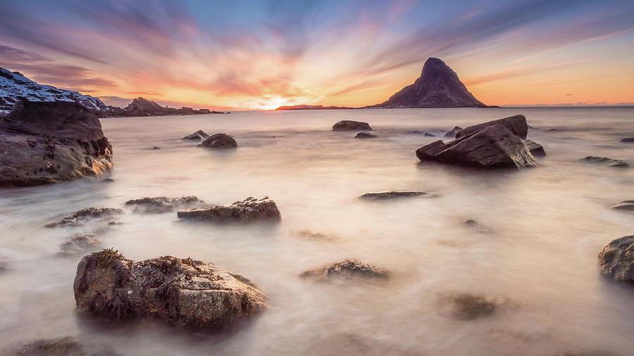 Sunset Photograph - Sunset At Bleik by Alex Conu