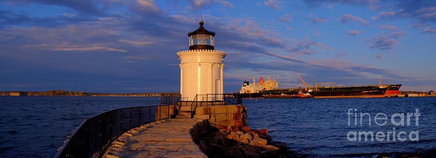 Panorama Photograph - Sunset At Bug Light Lighthouse 2 by David Bishop