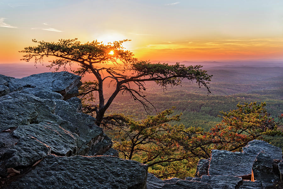 Sunset At Cheaha Overlook 1 by Jim Vallee