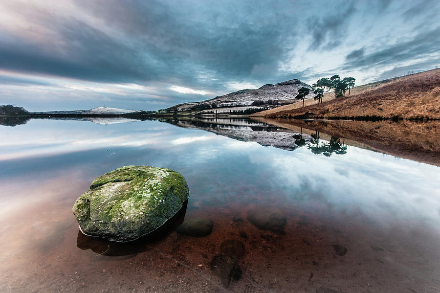 Sunset Photograph - Sunset At Dovestone Reservoir, Greater Manchester, North West England by Anthony Lawlor
