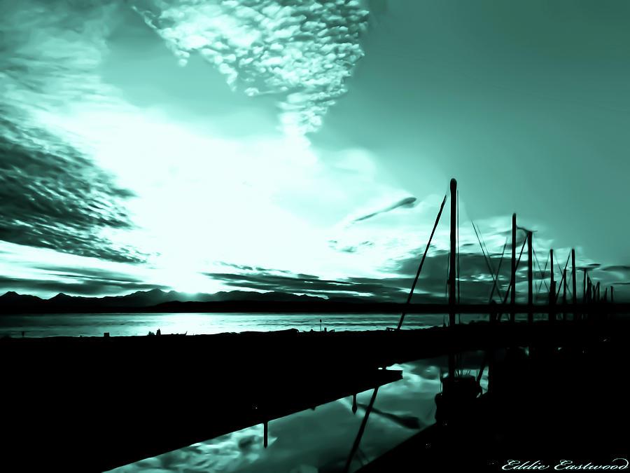 Landscapes Photograph - Sunset At Edmonds Washington Boat Marina 1 by Eddie Eastwood