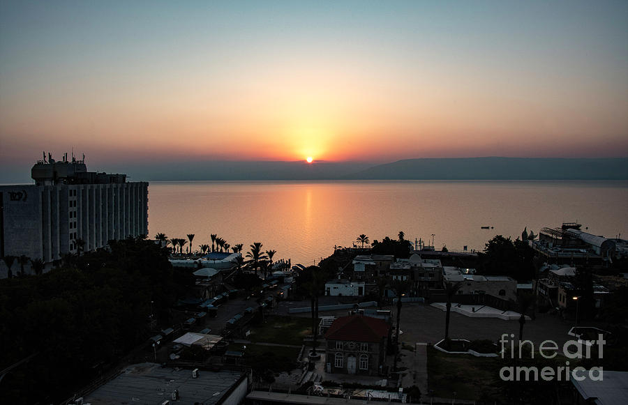 Sunset At Galilee Photograph by Mae Wertz