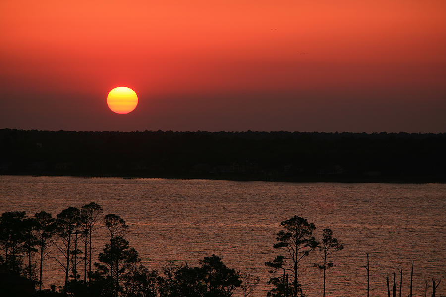 Sun Photograph - Sunset At Gulfshores by James Jones