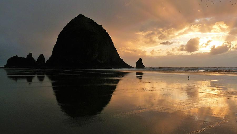 Sunset at Haystack Rock by Tranquil Light Photography