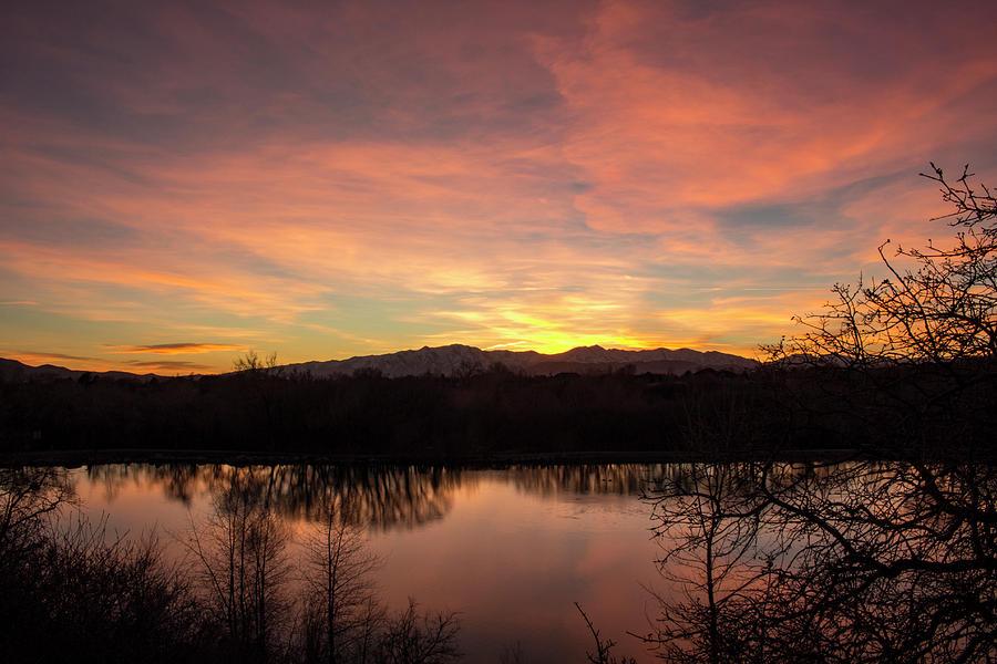 Lake Photograph - Sunset at Highland Glen by K Bradley Washburn