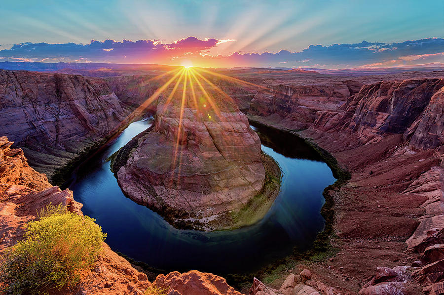 Sunset at Horseshoe Bend by Dave Koch