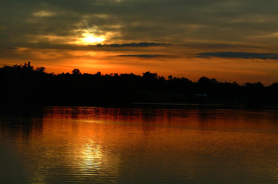 Sunset Photograph - Sunset At Jacobson by T F McDonald