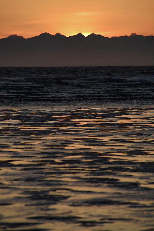 Alaska Photograph - Sunset At Kenai Beach by Lauren Fraser