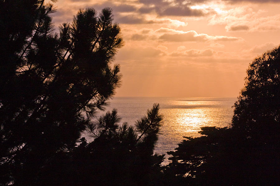 Sunset Photograph - Sunset At La Jolla Shores Beach by Q J