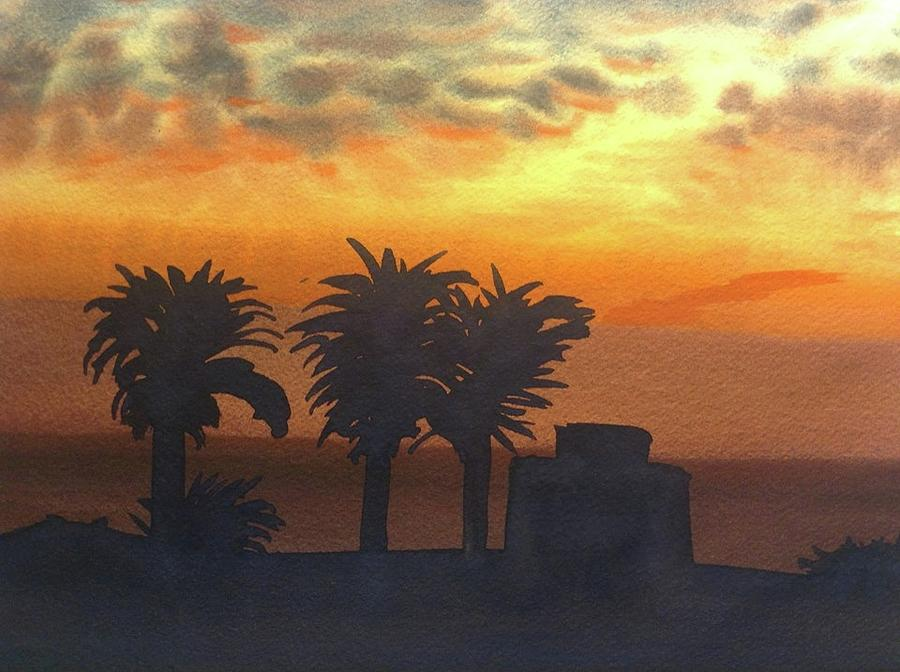 Sunset At Laguna Painting by John DiMare
