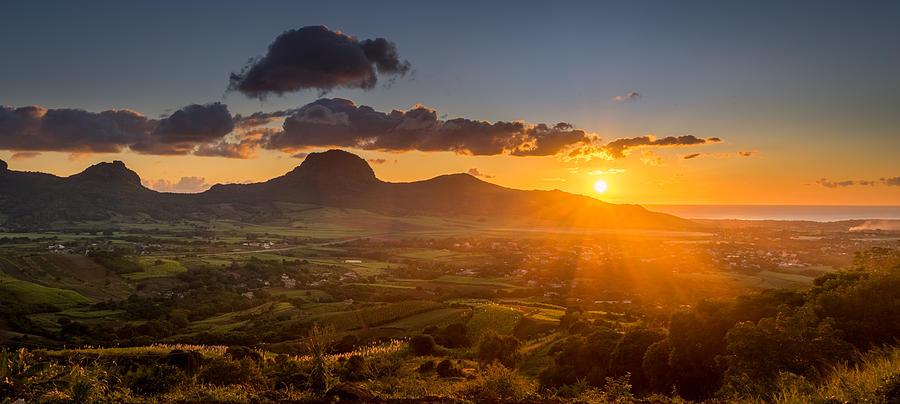 Landscape Photograph - Sunset At Les Mariannes by Vivek Chumun