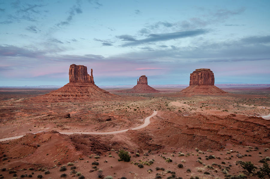 Monument Valley Photograph - Sunset At Monument Valley No.1 by Margaret Pitcher