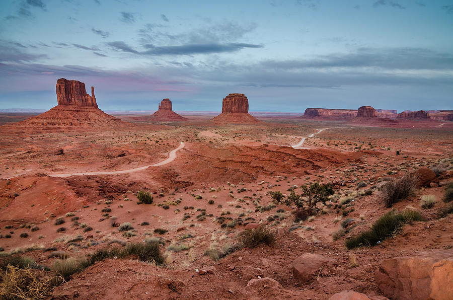 Monument Valley Photograph - Sunset At Monument Valley No.2 by Margaret Pitcher