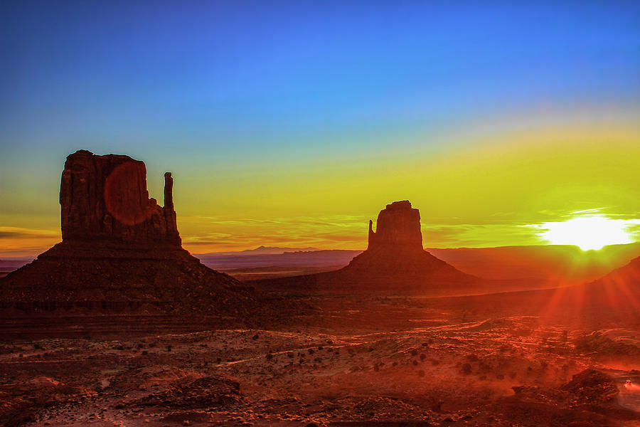 Sunset Photograph - Sunset At Monument Valley by Trish VanHousen