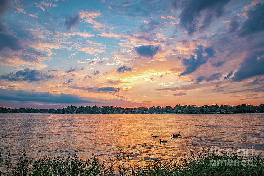 Sunset at Morse Lake by Sophie Doell
