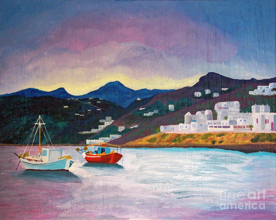 Sunset at Mykonos by Marina McLain