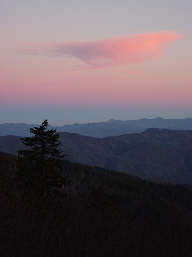 Sunset At Newfound Gap Photograph by Steve Carpenter