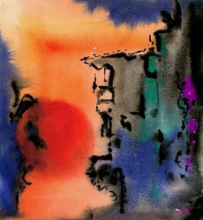 Sunset at Nikko Painting by Ralf  Broughton