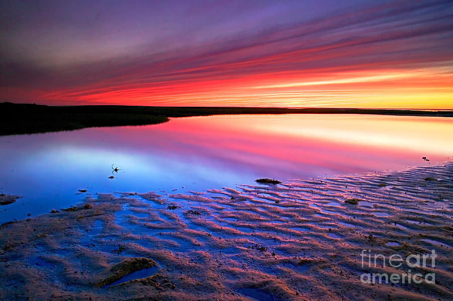 Sunset Photograph - Sunset At Paines Creek Cape Cod by Matt Suess