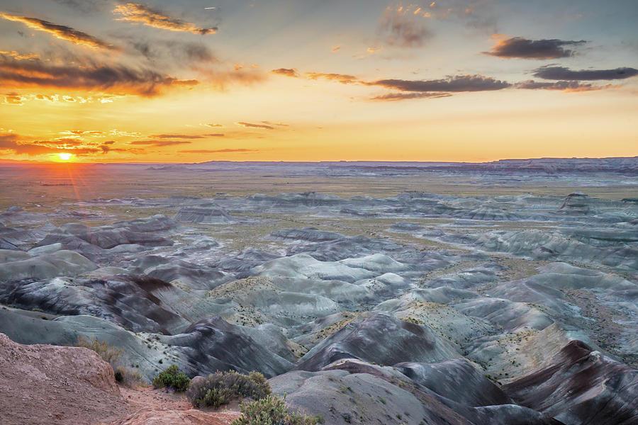 Landscape Photograph - Sunset At Painted Desert by Nana Suzuki