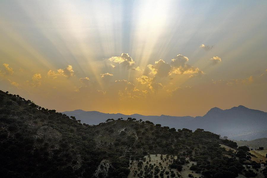 Sunset At Pastelero Near Villanueva De La Concepcion Andalucia Spain By Mal Bray