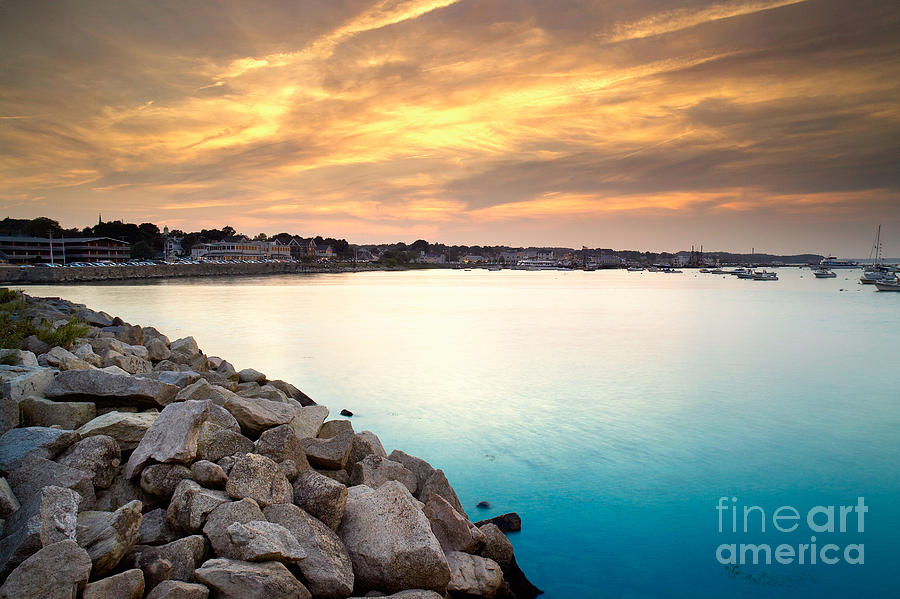 Sunset Photograph - Sunset At Plymouth Harbor by Matt Suess