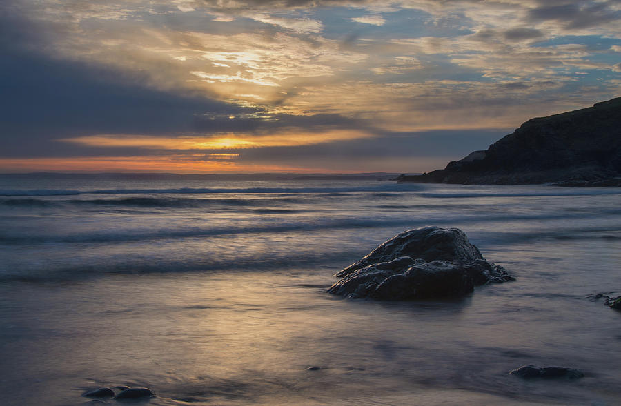 Sunset at Poldhu Cove by Pete Hemington