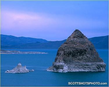 Pyramid Lake Photograph - Sunset At Pyramid Lake by Scott Thompson