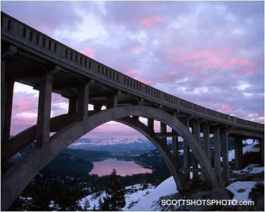 Truckee Photograph - Sunset At Rainbow Bridge by Scott Thompson