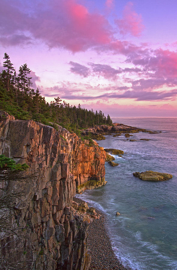 Schoodic Peninsula Photograph - Sunset at Ravens Nest by Juergen Roth
