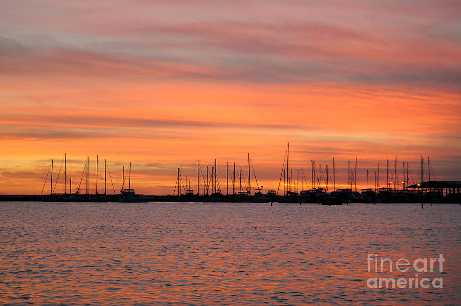Sunset Photograph - Sunset At Rock Hall, Md by Cindy Roesinger