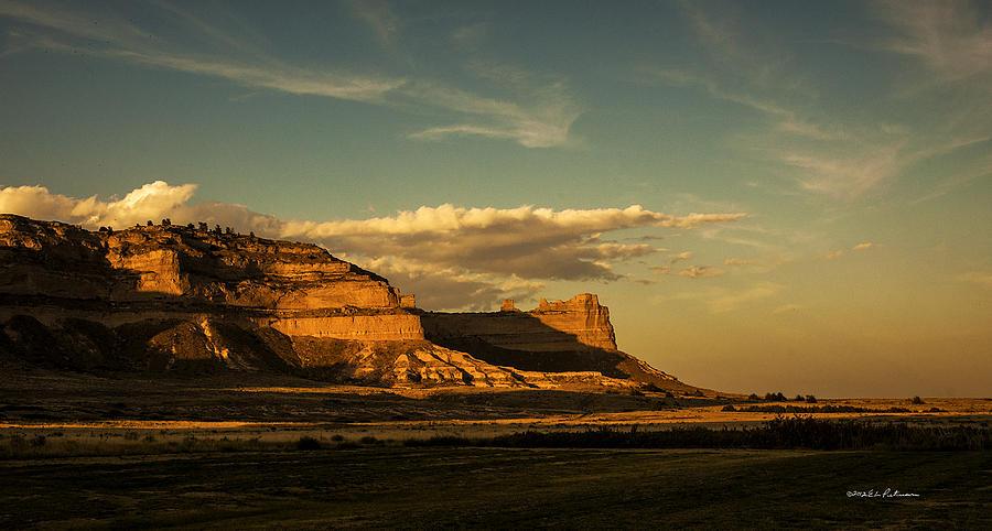 Nebraska Photograph - Sunset At Scotts Bluff National Monument by Edward Peterson