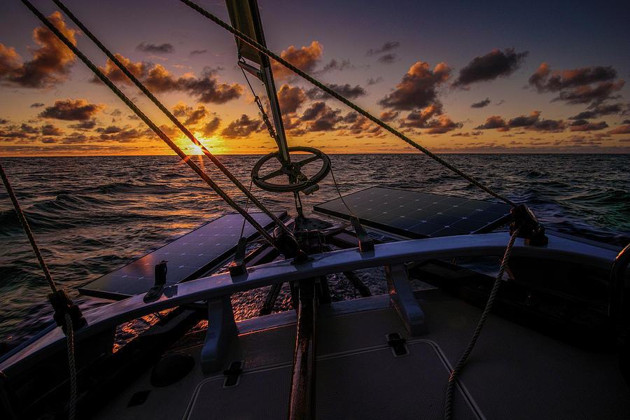 Sunset at sea by Gary Felton