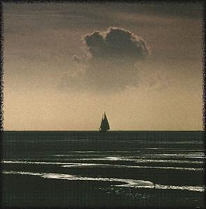 Seascape Photograph - Sunset At Sea by PJ Steinmeijer