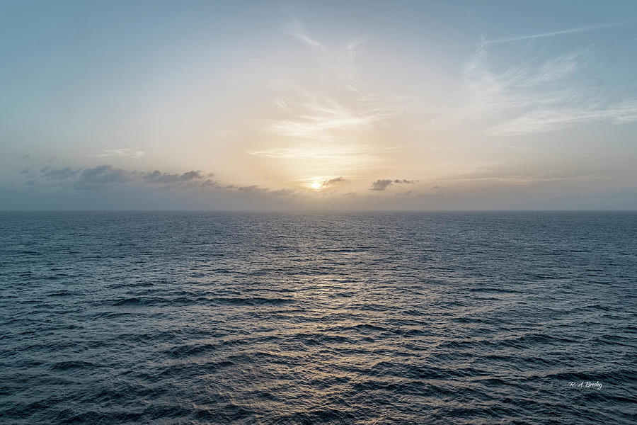 Nature Photograph - Sunset At Sea by Robert Bresley
