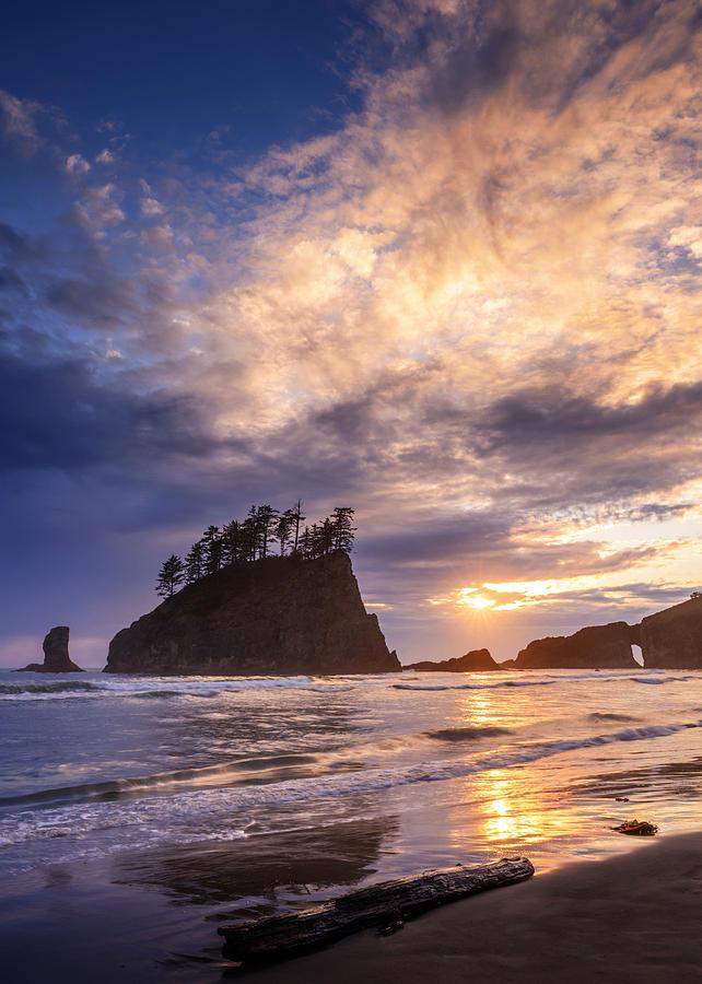Second Beach Photograph - Sunset At Second Beach by Dan Mihai