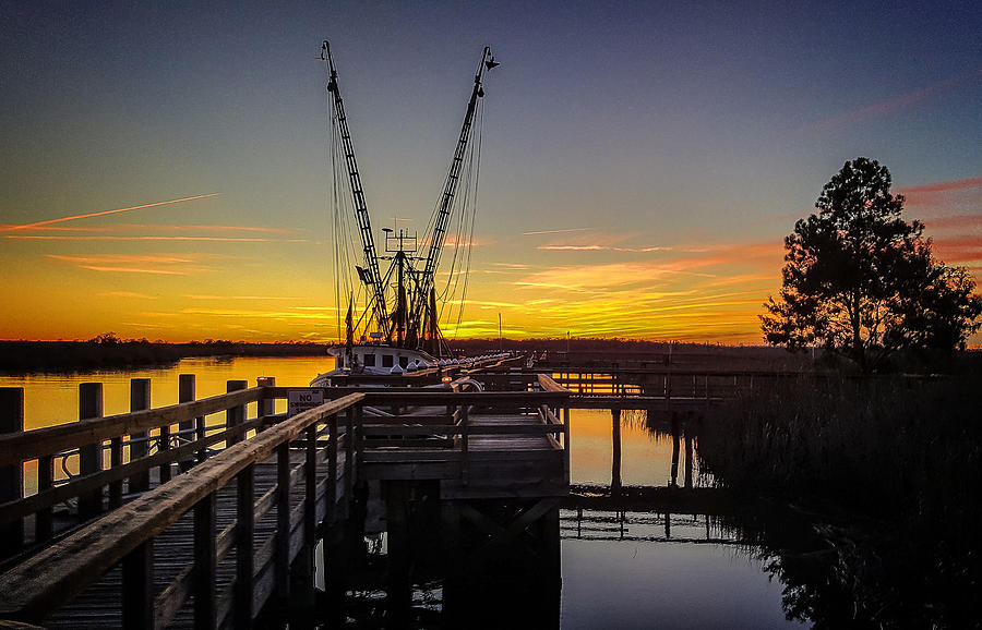 Sunset Photograph - Sunset At Skippers Fish Camp by Jim Ziemer