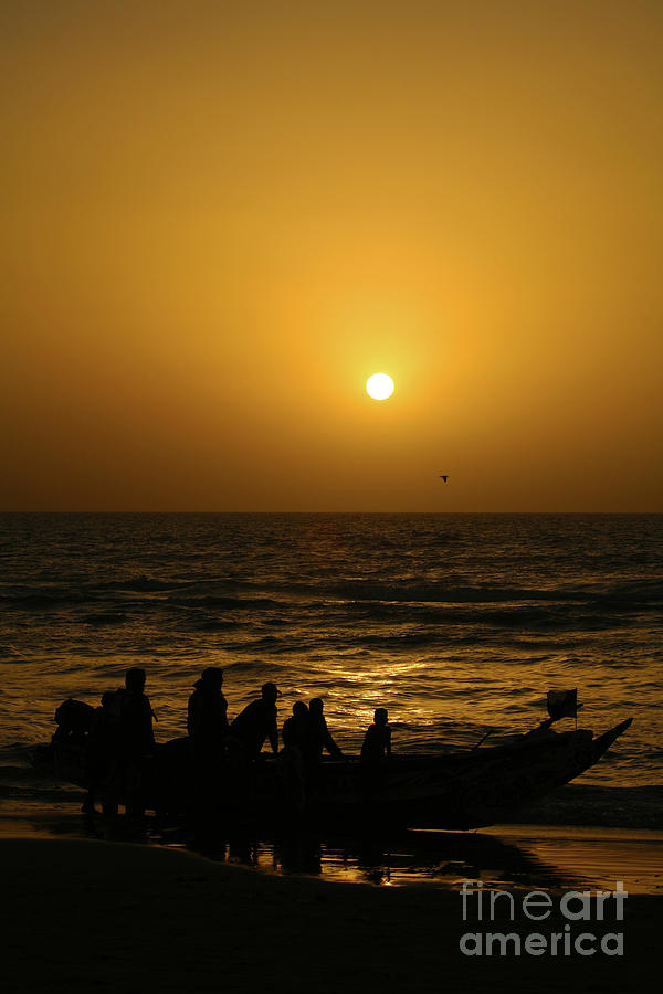 Sunset at St Louis - Senegal by Julian Wicksteed